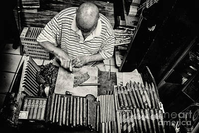 Photograph - Crafting A Great Cigar by Rene Triay Photography