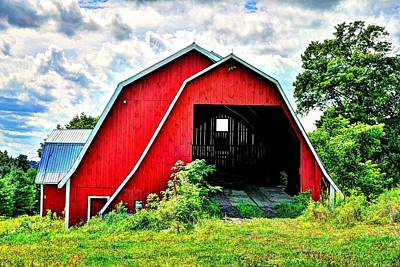 Photograph - Craftsbury Barn by John Nielsen