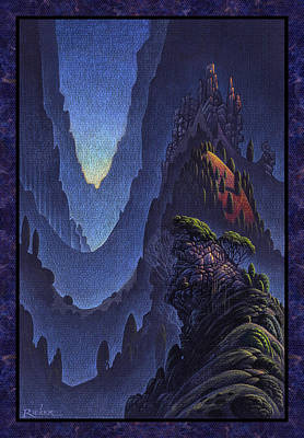 Fjord Drawing - Craggy Fjord by Bruce Ricker