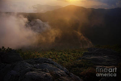 Craggy Garden Sunset Art Print by Jonathan Welch