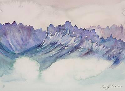 Craggy Peaks Art Print by Carolyn Doe