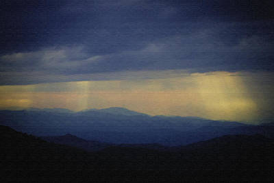 Painting - Craggy Sunset In Paint by John Haldane