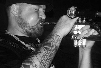 Photograph - Craig Sorrells Trumpet And Tatoo by Cleaster Cotton
