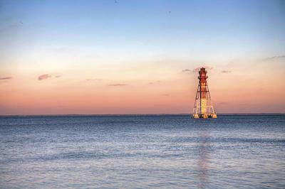 Craighill Channel Lighthouse Art Print by JC Findley