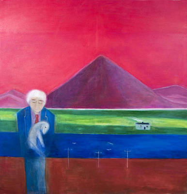 Mourning Photograph - Craigie Going Home, 2011 Oil On Canvas by Roya Salari