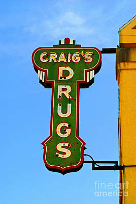 Design Turnpike Books Royalty Free Images - Craigs Drugs Royalty-Free Image by Jost Houk