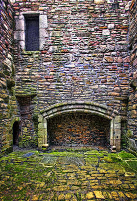 Castle Photograph - Craigsmiller Castle Kitchen Fireplace by Marcia Colelli