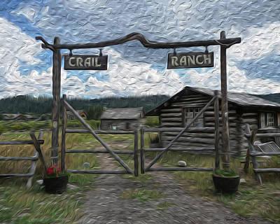 Log Cabin Photograph - Crail Ranch by Heather MacKenzie