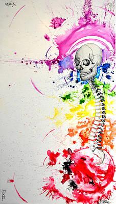 Chakra Rainbow Painting - Crainial Sacral Chakra by James Foote