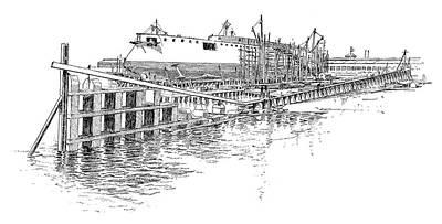 Shipyard Painting - Cramp's Shipyard by Granger