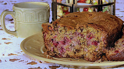 Photograph - Cranberry Nut Bread by Janice Drew