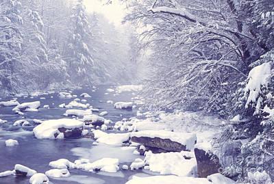 Cranberry River Heavy Snow Art Print