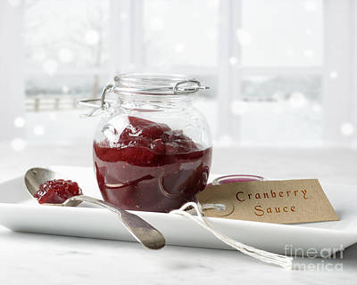 Dressing Photograph - Cranberry Sauce by Amanda Elwell