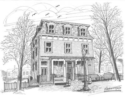 Hyde Park Drawing - Cranberry's Cafe Circa 1884 by Richard Wambach