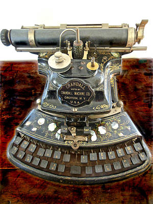 Photograph - Crandall Type Writer 1893 by Joan Reese