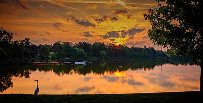 Photograph - Crane @ Sunrise by Chris Bordeleau