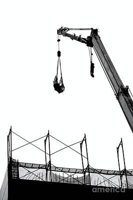 Crane And Construction Site Art Print