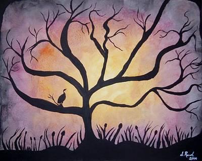 Crane At Sunset Art Print by Susan Reed