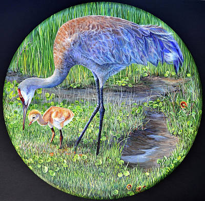 Painting - Crane Circle by AnnaJo Vahle