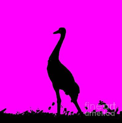 Photograph - Crane In Fuchsia by Anita Lewis