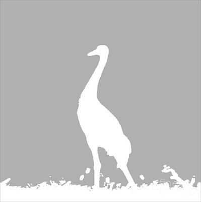 Digital Art - Crane In Gray by Anita Lewis
