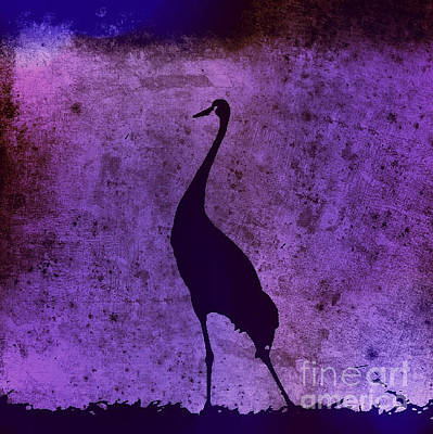 Photograph - Crane In Vintage Plum by Anita Lewis