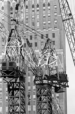 Cranes Ready For Action Art Print