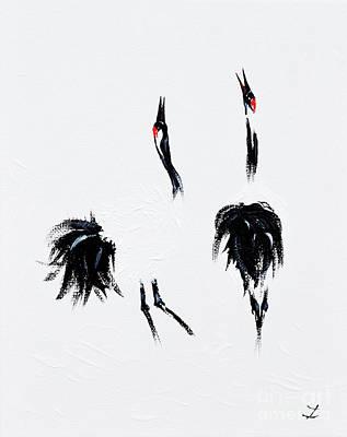 Painting - Cranes by Zaira Dzhaubaeva