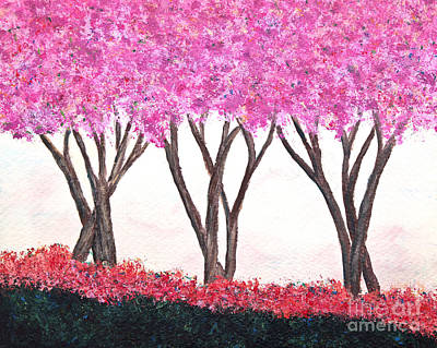 Painting - Crape Myrtle Trio by Pattie Calfy