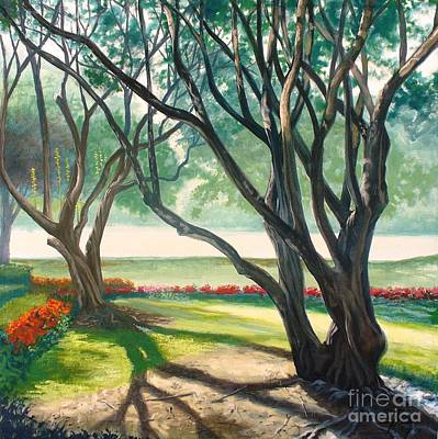 Blum Painting - Crape Myrtles by Theon Guillory