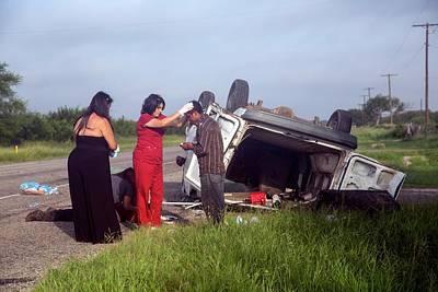 Crash Victims Being Treated Art Print