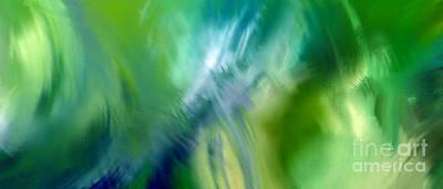 Environment Design Digital Art - Crashing At Sea Abstract Painting 1 by Andee Design