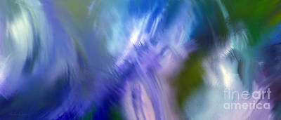 Splashing In The Tide Digital Art - Crashing At Sea Abstract Painting 2 by Andee Design