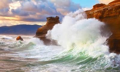 Crashing Waves Photograph - Crashing Kiwanda by Darren  White
