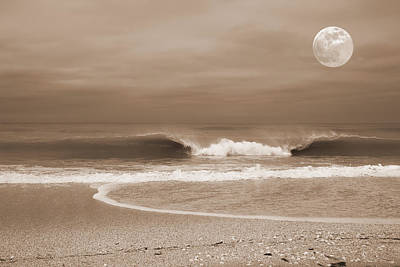 Photograph - Crashing Moon by Sean Allen
