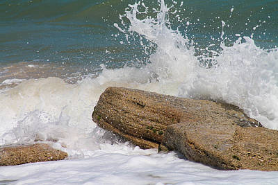Photograph - Crashing On Coquina by Jessica Brown