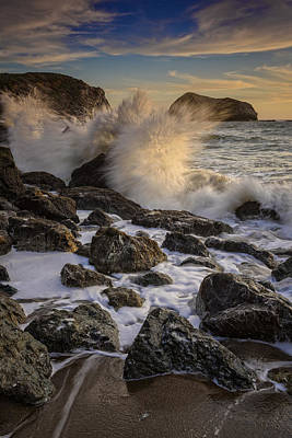 Sausalito Photograph - Crashing Sunset by Rick Berk