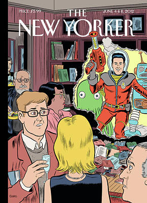 Party Painting - Crashing The Gate by Daniel Clowes