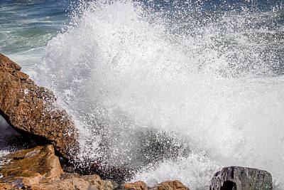 Art Print featuring the photograph Crashing Wave Acadia  by Trace Kittrell