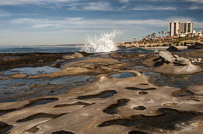 Photograph - Crashing Wave At La Jolla Cove by Lee Kirchhevel