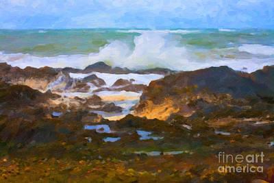 Digital Art - Crashing Wave by Diane Macdonald