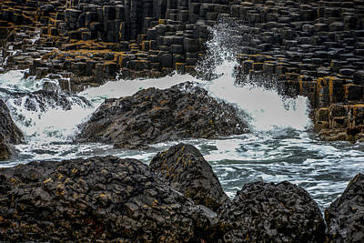 Photograph - Crashing Waves At The Giant's Causeway by Marilyn Burton