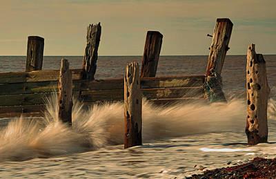 East Coast Photograph - Crashing Waves by David Borrill