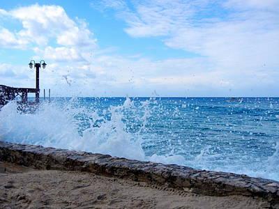 Art Print featuring the photograph Crashing Waves In Cozumel by Debra Martz
