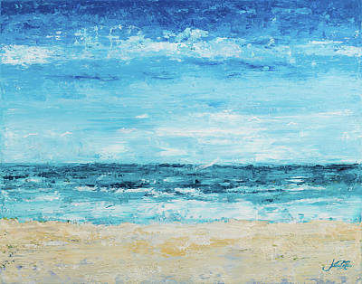 Crashing Wave Painting - Crashing Waves by Julie Derice