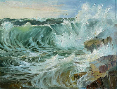 Painting - Crashing Waves by Lori Ippolito