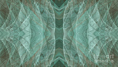 Digital Art - Crashing Waves Of Green 3 - Abstract - Fractal Art by Andee Design
