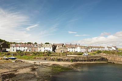Craster Village And Harbour Print by Ashley Cooper