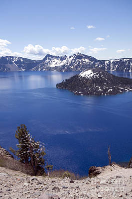 Photograph - 715p Crater Lake Oregon by NightVisions