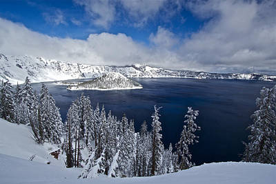 Photograph - Crater Lake 040913a by Todd Kreuter